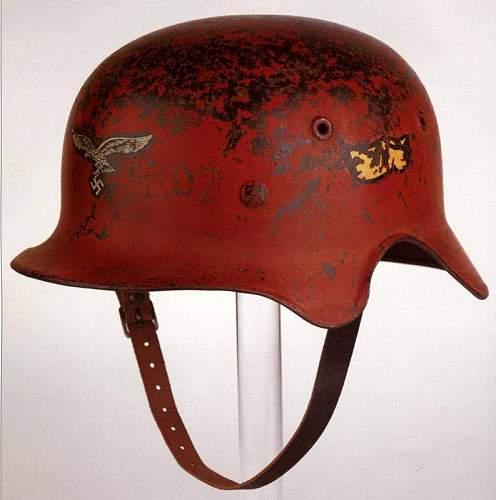 Luft helmet M40 ear cut.  Fake?