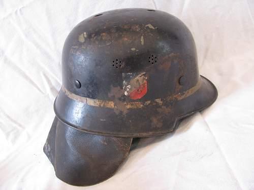 Three DD M34 Luftwaffe Crash Crew Helmets  -   Early Gold Leaf Adler Decals