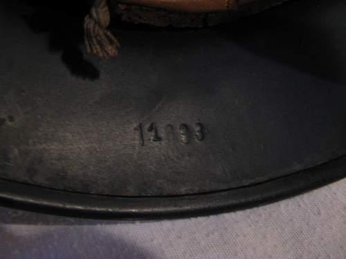 M40 Beaded Luftschutz Combat Police - Reverse Decals