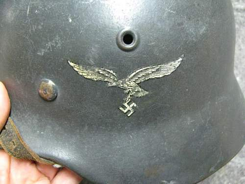 confirm a real Luft m40 helmet