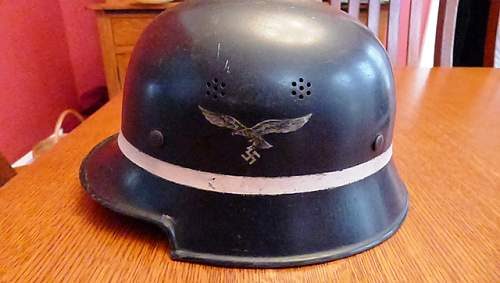 Just found this German helmet.  What can you tell me?