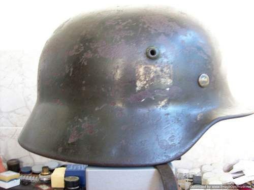 Helmet with tag