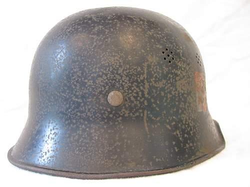 M34 Double Decal Bohemia Moravia Police Helmet
