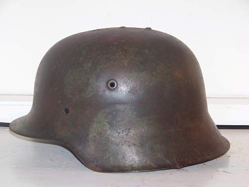 German helmet from Normandy