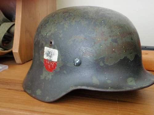 Unusual M35 Helmet