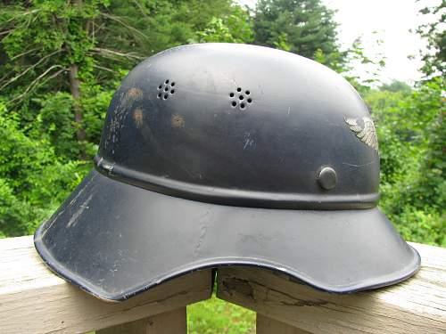 Messerschmitt Factory Guard/Luftschutz Helmet