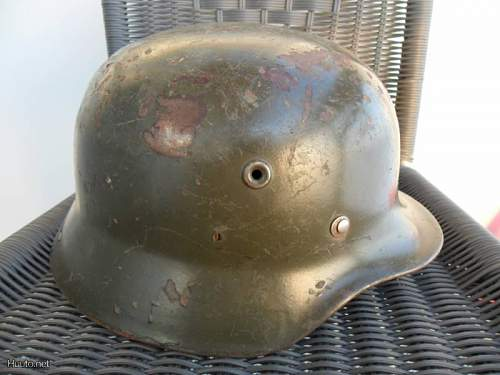 German helmet used in the continuation war in Finland
