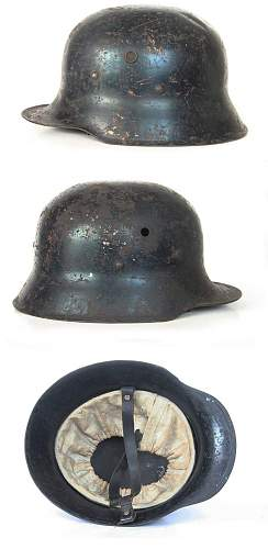 Click image for larger version.  Name:Soviet_helmet_german_m16_luftschutz.jpg Views:244 Size:89.8 KB ID:222145