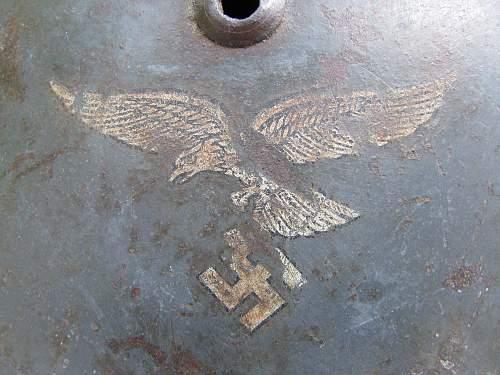 Double Decal M35 Luftwaffe - Straight Leg Adler