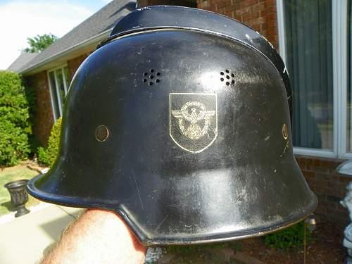 My new Assmann 34 Double Decal Civic Police Helmet
