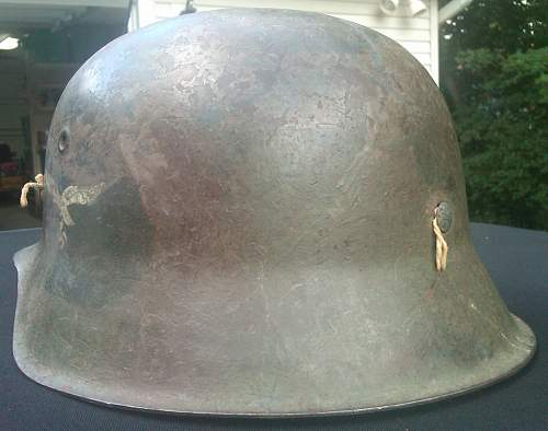 Need some opinions on this Luftwaffe Camo Helmet...