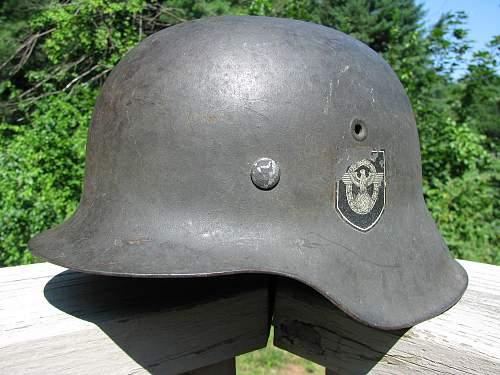 M42 DD Combat Police Helmet - EF64 Lot # 499
