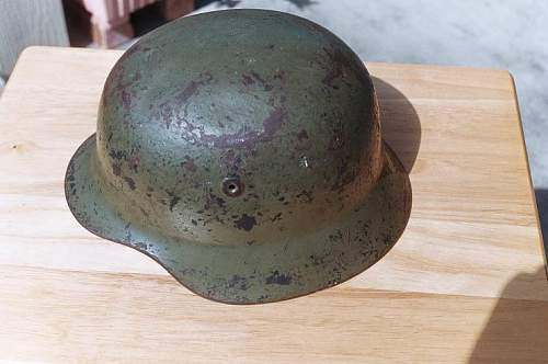 M-40 german helmet,no liner,,gi chinstrap bales added