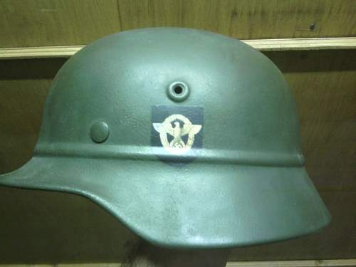 M-40 police beaded helmet- need help