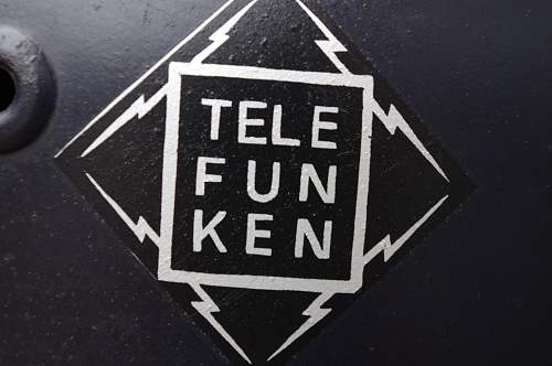 'Telefunken' factory decal on Luftschutz helmet- Genuine?