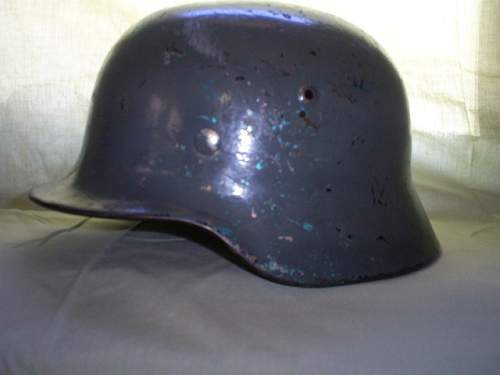 M35 no decal helmet for authentication