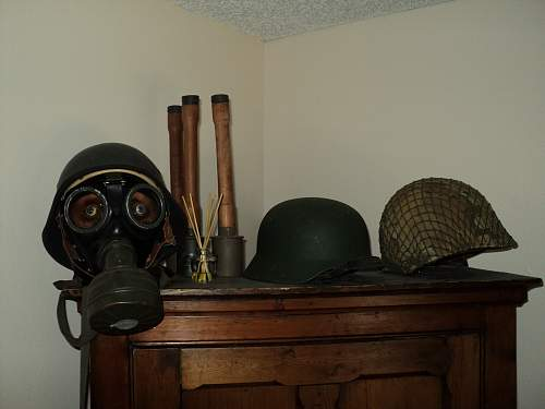 Helmet collection, and a few guns