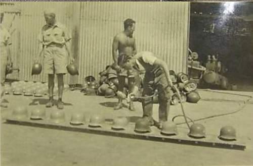 WWII German Afrika Corps DAK Desert Camo Helmet Real???