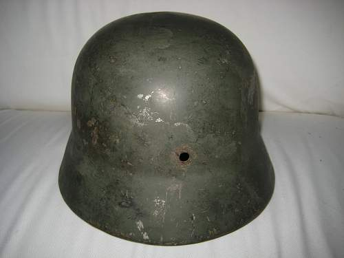damaged helmet