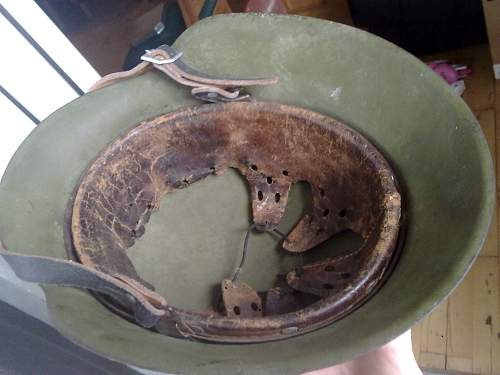 Luft helmet M40 ear cut.  Fake?