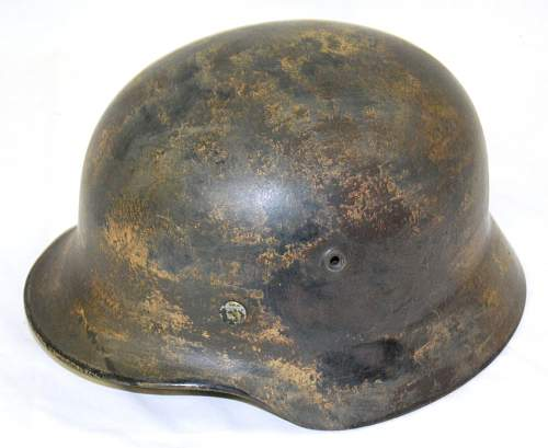 German helmet, supposedly camo, but not sure.