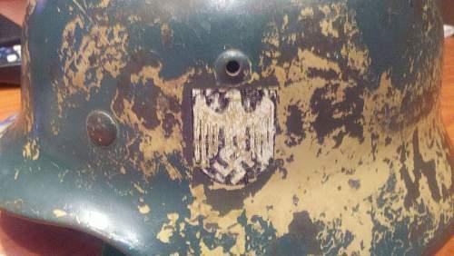 ww2 German M35 Camo Helmet