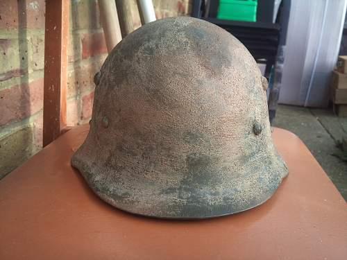 garage found ww2 helmet??