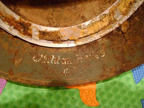 M35 relic helmet from kurland named