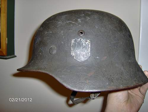 My German M35 Helmet, just found in a basement!