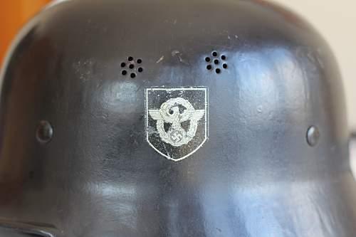 FEUERSCHUTZ  Polizei Helmet !   - My first one :)   - What do you think?