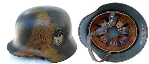 Gas can and helmet camo