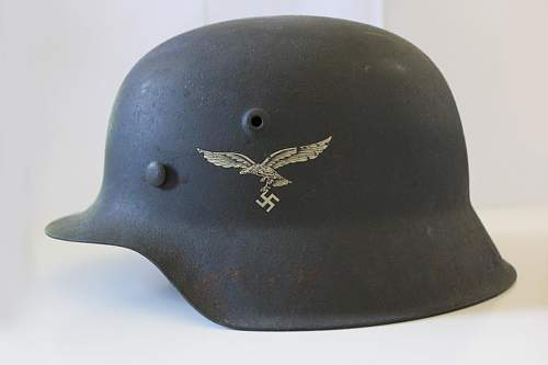 HKP66 M43 Luftwaffe helmet - amazing condition!