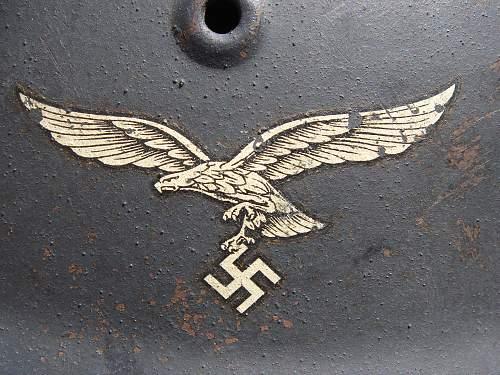 HKP66 M43 Luftwaffe helmet - amazing condition!