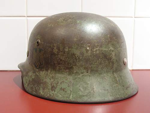 Kreigsmarine M35 - Before & After Post War Paint Removal
