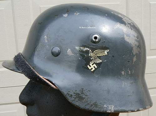 My Luftwaffe double decal M35 with 31 liner