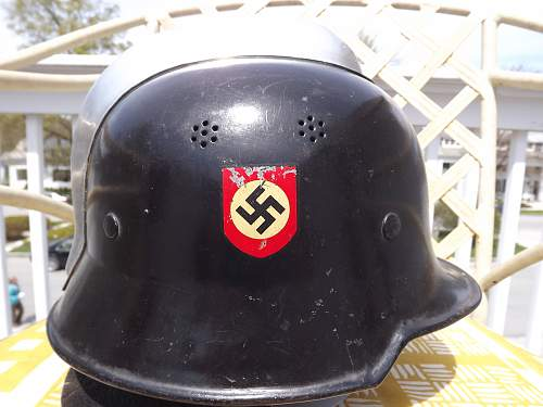 M34 Fire Police Helmet With Comb And Neck Flap