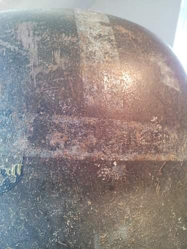 Single Decal KM.. lines on helmet??
