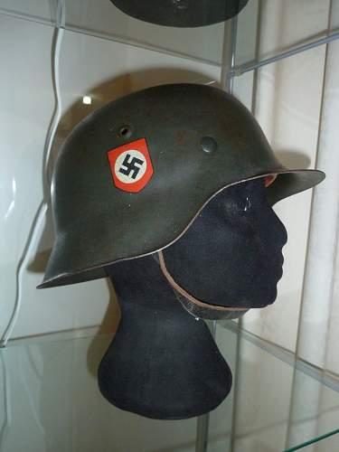 1943 field police combat helmet