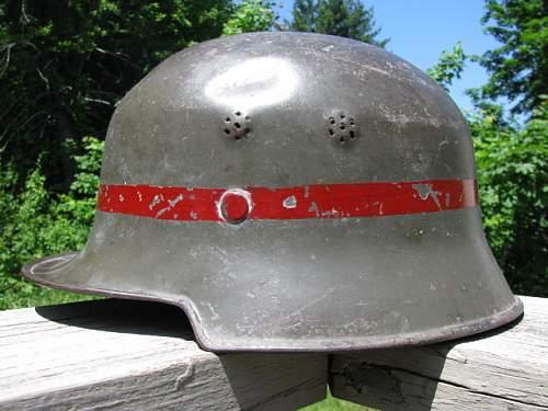 Factory Police Helmet - Stenciled Insignia