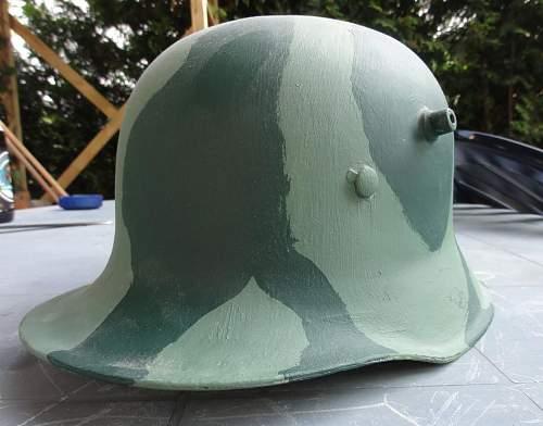 German helmet shell from WWII? Help, please.