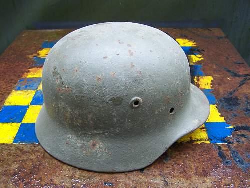 Unusual M40 Snow Camo Helmet / Opinions Needed