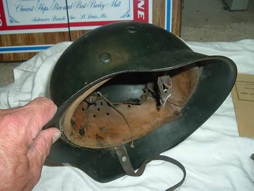 Black Painted helmet