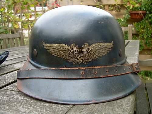 Luftschutz helmet gold or toned