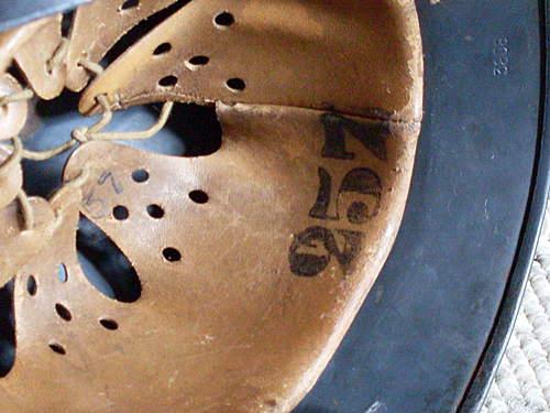 Luftwaffe m35 leather marking??