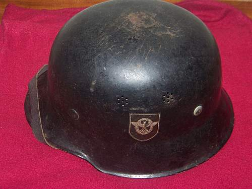 My new M34 curved dip DD police/firemam helmet