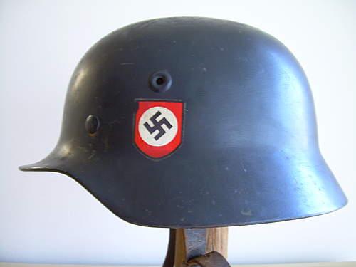 helmet w/ textured black paint