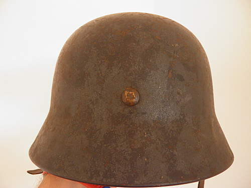 Luftwaffe SD Helmet odd patina