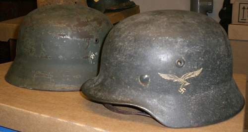 LW M40 unit marked chinstrap