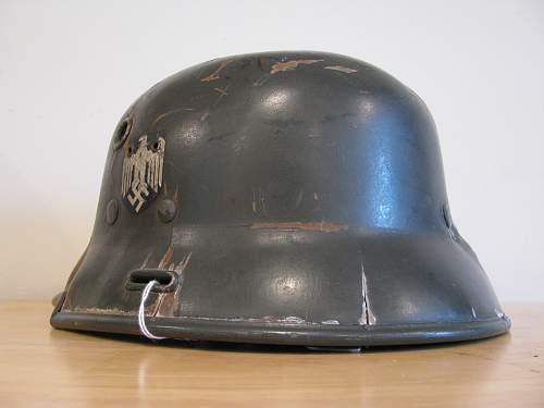 Prototype Vulkanfiber Double Decal Heer Helmet - Model 3