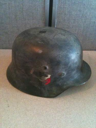 Luftwaffe M1935 Double Decal White CAMO steel Helmet---OPINIONS please!  Thanks